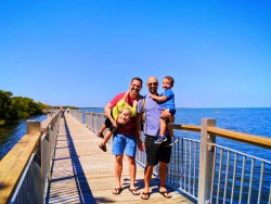 Taylor Family on Nature Trail at Biscayne National Park 10