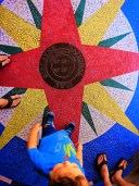 Taylor Family with Mosaic Compass at Biscayne National Park 1