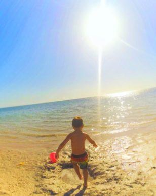 Taylor Kids playing at Fort Island Beach Crystal River Florida 1