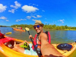 Rob Taylor kayaking at GTM Reserve St Augustine 2