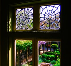 Spider windows of Winchester Mystery House San Jose 1