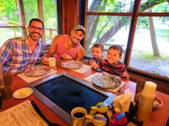 Taylor Family at Old Sugarmill Restaurant De Leon Springs State Park Daytona Beach 6