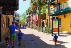 Taylor Family on St George Street Downtown St Augustine 1