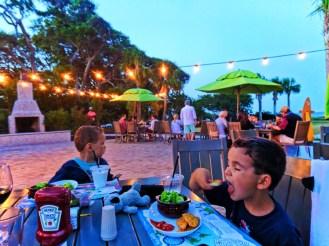 Dinner at Beach House Restaurant at Holiday Inn Resort at the beach Jekyll Island Golden Isles 1