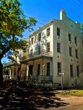 Historic Home with wrought iron balconies in Conti Square Historic District Mobile Alabama 1