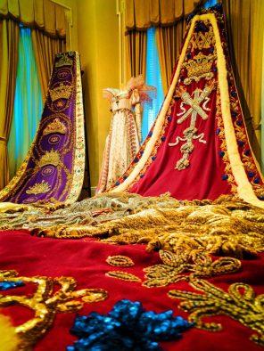 Mardi Gras Royalty wardrobe in Carnival Museum Mobile Alabama 1