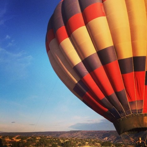 Hot air ballooning in Santa Fe
