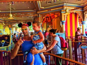 Taylor Family at Toy Story Mania Paradise Pier Disneys California Adventure 3