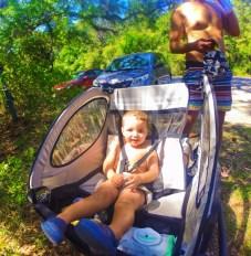 Taylor Family biking at Driftwood Beach Jekyll Island Golden Isles 1