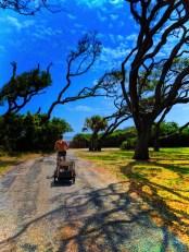 Taylor Family biking by the Beach Jekyll Island Golden Isles 10V