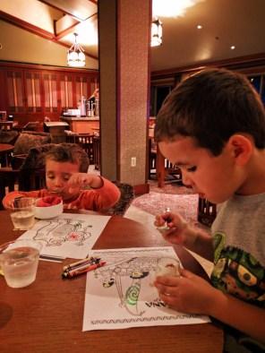 Taylor Family in Craftsmans Club Disneys Grand Californian Hotel Disneyland 3