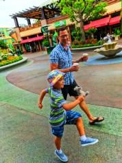 Taylor Family marching through Downtown Disney Disneyland 1
