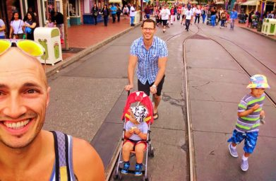 Taylor Family on Main Street USA Disneyland 1