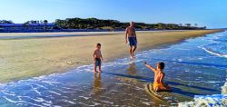 Taylor Family on beach Jekyll Island Golden Isles Georgia 15