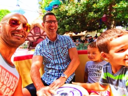 Taylor Family spinning in Teacups in Fantasyland Disneyland 2