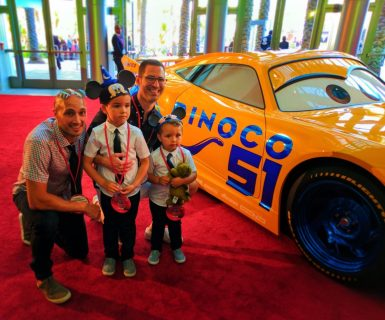 Taylor Family with Cruise Ramirez at Cars 3 Premiere Disneyland 2017 1
