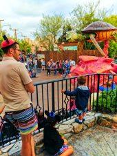 Taylor Family with Finding Nemo Pixar Play Parade Disneys California Adventure 1