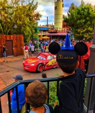 Taylor Family with Lightning McQueen Pixar Play Parade Disneys California Adventure 2