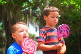 Taylor Family with lolipops at Blue Spring State Park Daytona Beach 1