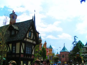 Antique buildings in Fantasyland Disneyland 1