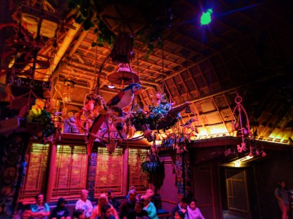 Birds inside Tiki Room Adventureland Disneyland 1