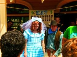 Cowboy show at Golden Horseshoe Frontierland Disneyland 1