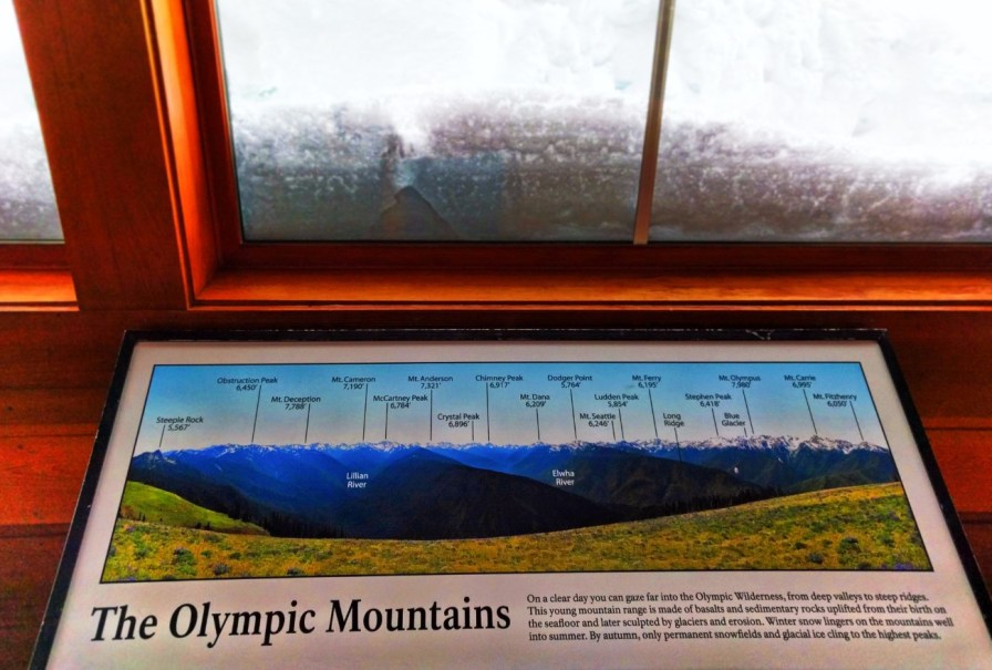 Inside Visitors Center at Hurricane Ridge Olympic National Park 2