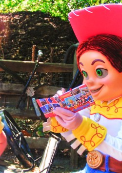 Jesse from Toy Story in Frontierland Disneyland 1