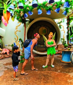 Taylor Family at Pixie Hollow with Tinkerbell Fantasyland Disneyland 2