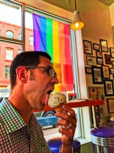 Taylor Family at Purple Door Ice Cream Historic Third Ward Milwaukee Wisconsin 2