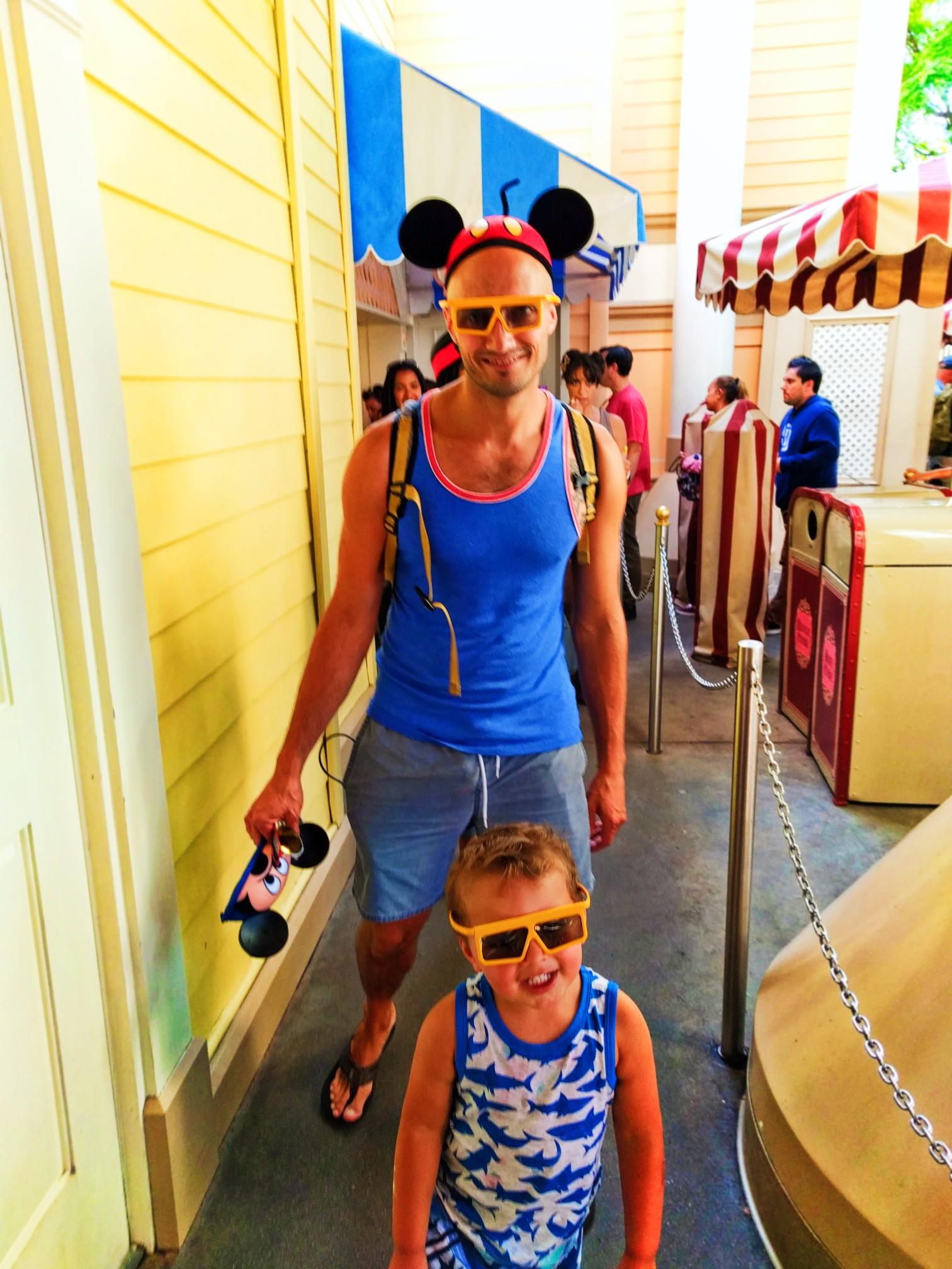 Taylor Family at Toy Story Mania Paradise Pier Disneys California Adventure 1