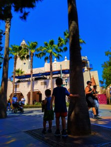Taylor Family in Carthay Circle in Disneys California Adventure 1