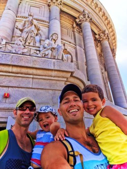 Taylor Family touring Capitol Building Madison Wisconsin 7