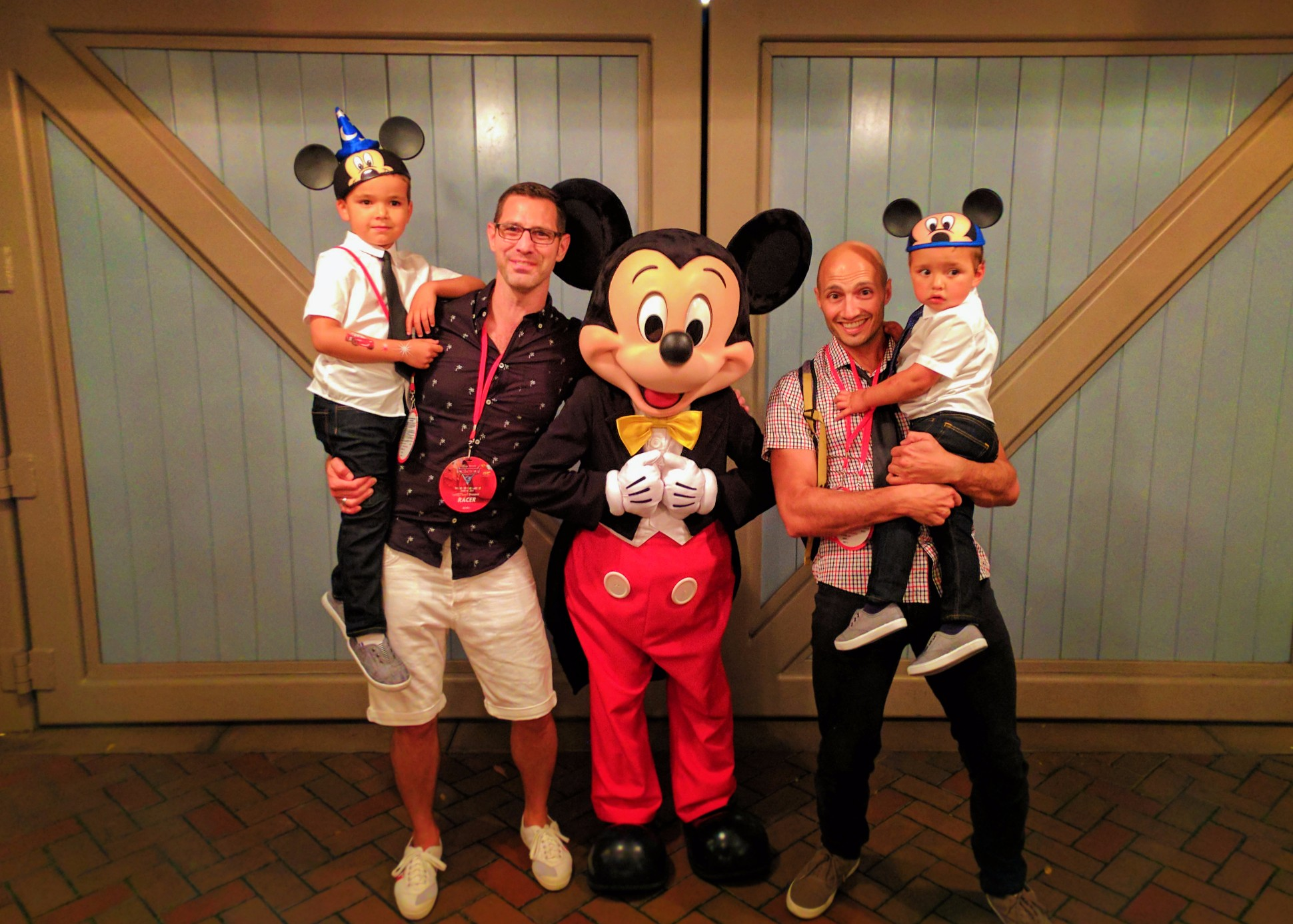 Taylor Family with Mickey Mouse on Main Street USA Disneyland 1