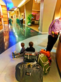 Taylor Family with REI and Trunki luggage at hotel 1