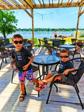Taylor family sunglasses kayaking with Wingra Boats Madison Wisconsin 1