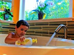 Taylor family using Johnsons Baby bath 1