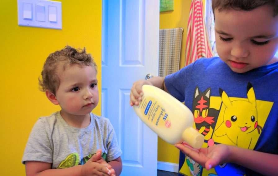 Taylor family using Johnsons Baby lotion 2