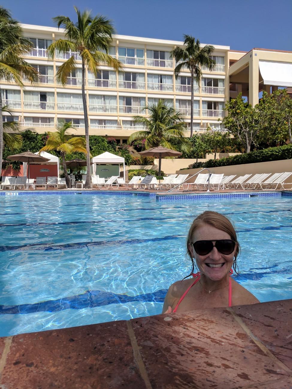 Swimming at El Conquistador Waldorf Astoria Puerto Rico