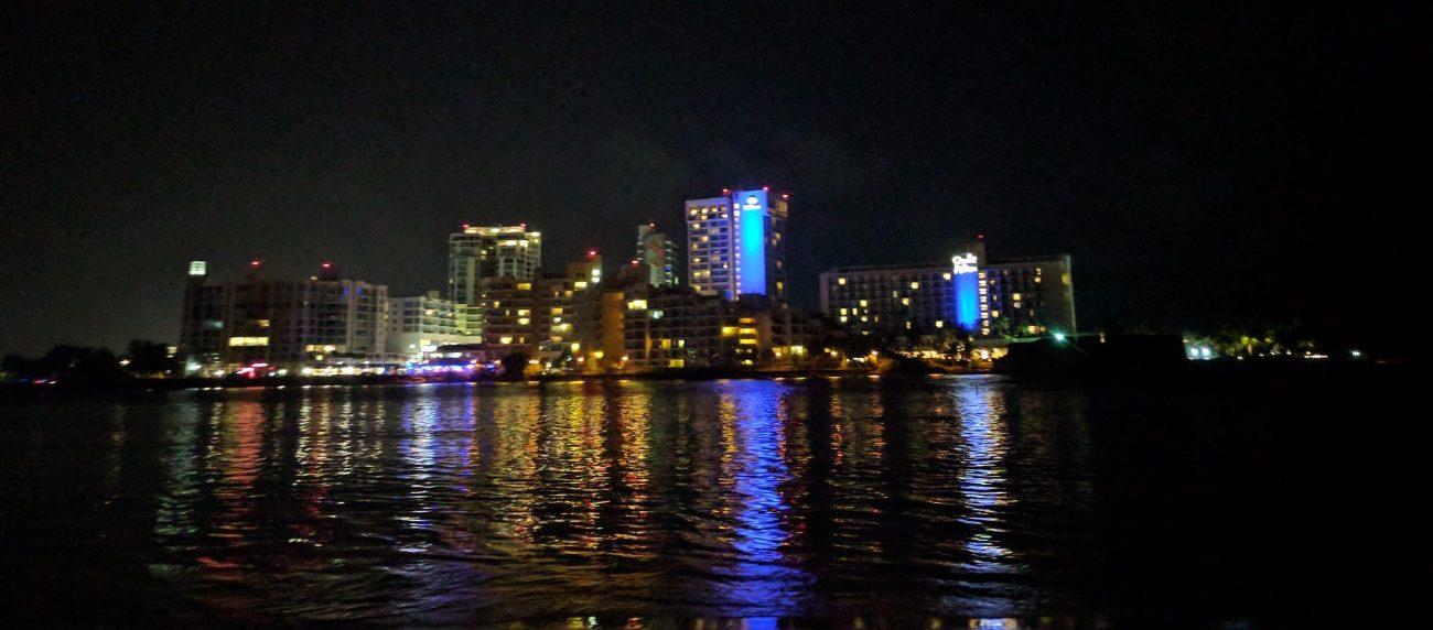 View across the lagoon from Condado Plaza Hilton