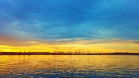 Sunrise over Harbor Island Seattle 1