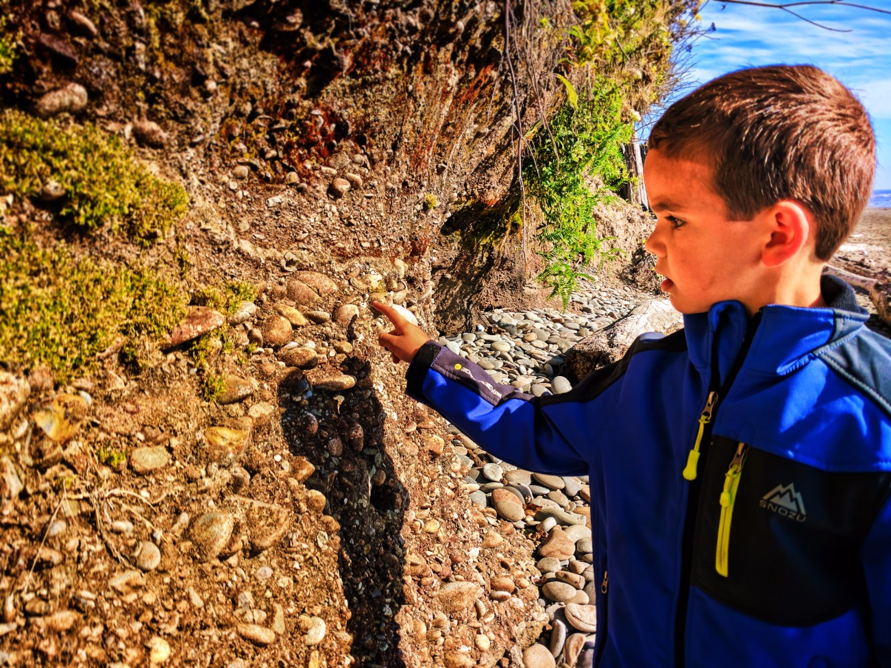 Taylor Family with erosion at beach at Kalaloch campground Olympic National Park 1
