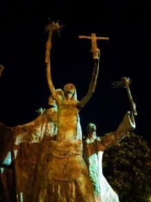 Bishop sculpture at San Juan Gate City Wall Old San Juan National Historic Site 1