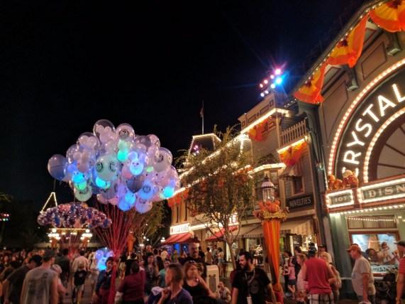 Main Street USA Halloweentime Disneyland 2017