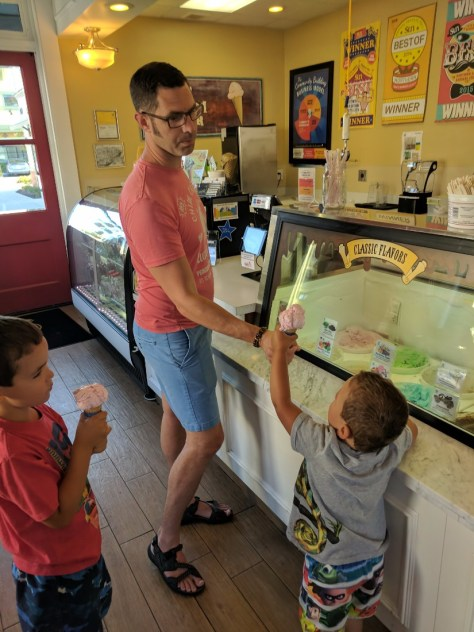 Taylor Family at Doc Burnsteins Ice Cream Lab Orcutt California 1