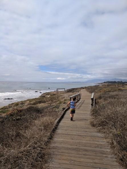 Taylor family at Moonstone Beach Cambria 1