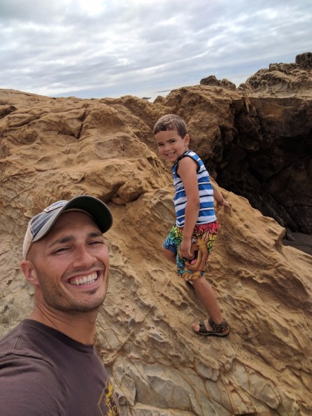 Taylor family at Moonstone Beach Cambria 3