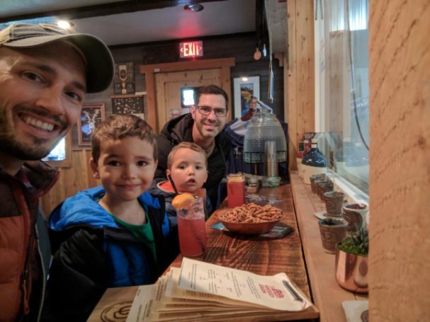 Taylor Family at Glacier Distilling West Glacier Montana