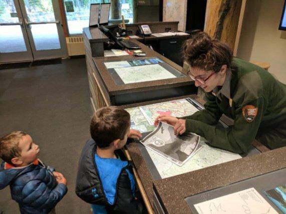 Taylor Family at Apgar Glacier National Park Visitors Center