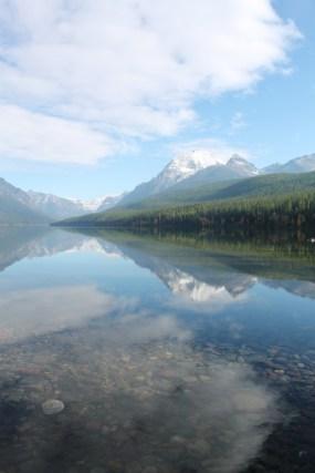 Reflections at Bowman Lake Glacier National Park